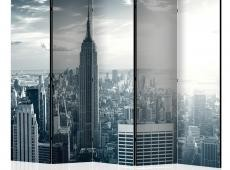 Paraván - Amazing view to New York Manhattan at sunrise II [Room Dividers]